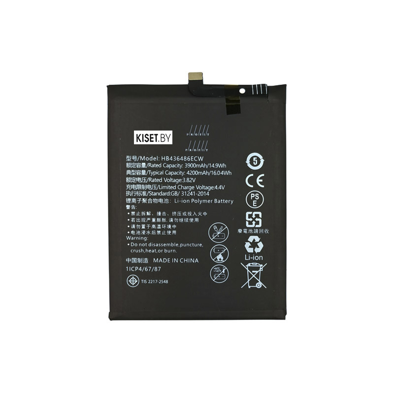 Аккумулятор PROFIT HB436486ECW для Huawei Mate 20 / Honor View 20 / P20 Pro / Mate 10 / Mate 10 Pro