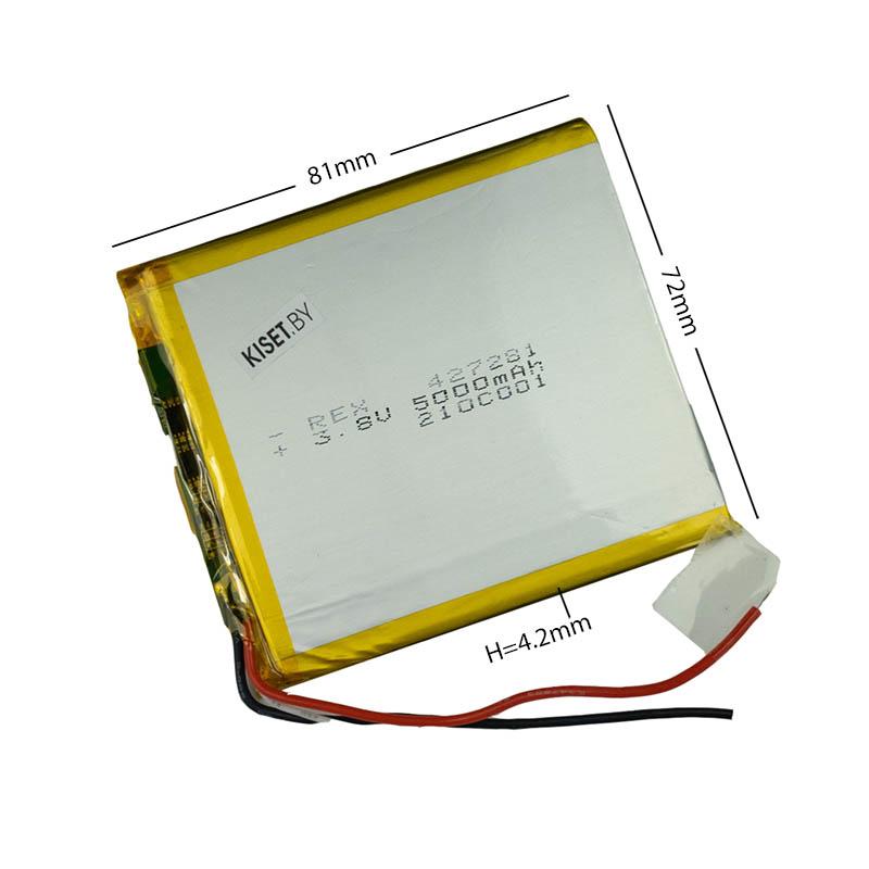 Аккумулятор Li-Pol со шлейфом 3pin 427281 5000mAh 3.8V