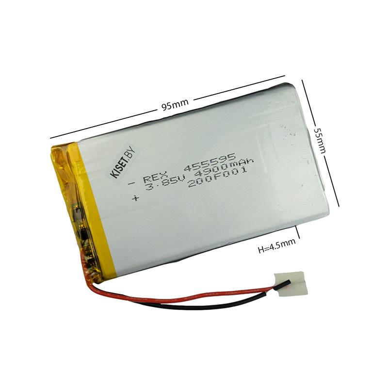 Аккумулятор Li-Pol со шлейфом 3pin 455595 4900mAh 3.85V