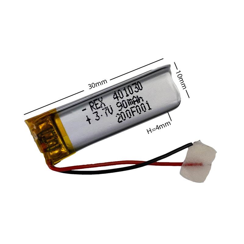 Аккумулятор Li-Pol со шлейфом 2pin 401030 90mAh 3.7V