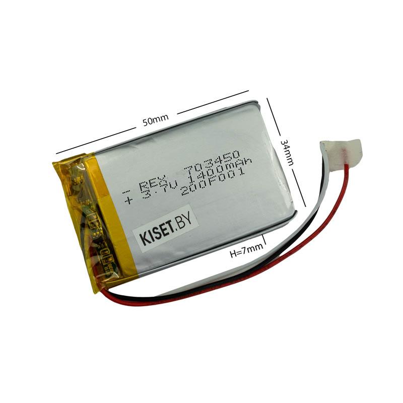 Аккумулятор Li-Pol со шлейфом 3pin 703450 1400mAh 3.7V