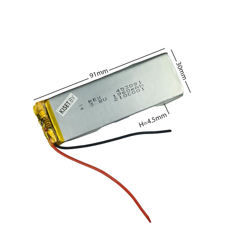 Аккумулятор Li-Pol со шлейфом 3pin 453091 1960mAh 3.8V