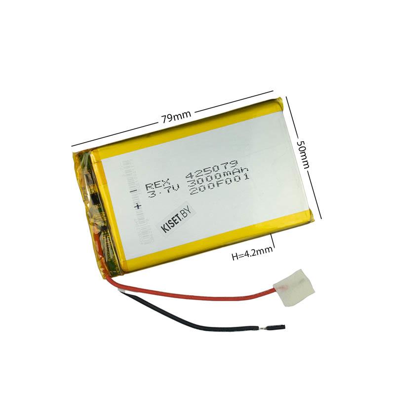 Аккумулятор Li-Pol со шлейфом 3pin 455079 3000mAh 3.7V