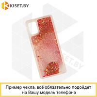 Силиконовый чехол Quicksand для Samsung Galaxy A21S / A217 красный