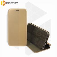 Чехол-книжка Book Case 3D с визитницей для Samsung Galaxy A21S / A217 золотой