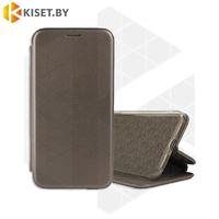 Чехол-книжка Book Case 3D с визитницей для Samsung Galaxy A21S / A217 графитовый
