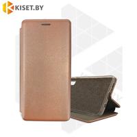 Чехол-книжка Book Case 3D с визитницей для Samsung Galaxy A21S / A217 розовое золото