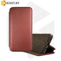 Чехол-книжка Book Case 3D с визитницей для Samsung Galaxy A21 / A215 бордовый