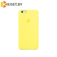 Бампер Silicone Case для iPhone 6 / 6s холодный лимонад