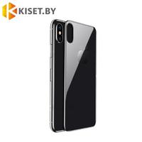 Защитное стекло Full Back на заднюю сторону для Apple iPhone X / XS, черное