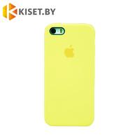 Бампер Silicone Case для iPhone 5 / 5s холодный лимонад