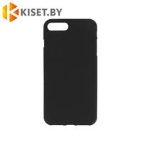 Силиконовый чехол матовый для Apple iPhone 7 / 8 / SE (2020) черный