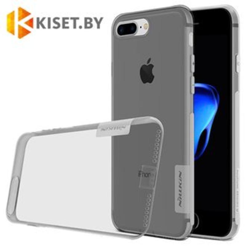 Силиконовый чехол Nillkin TPU Nature для Apple iPhone 7 / 8 / SE (2020) серый