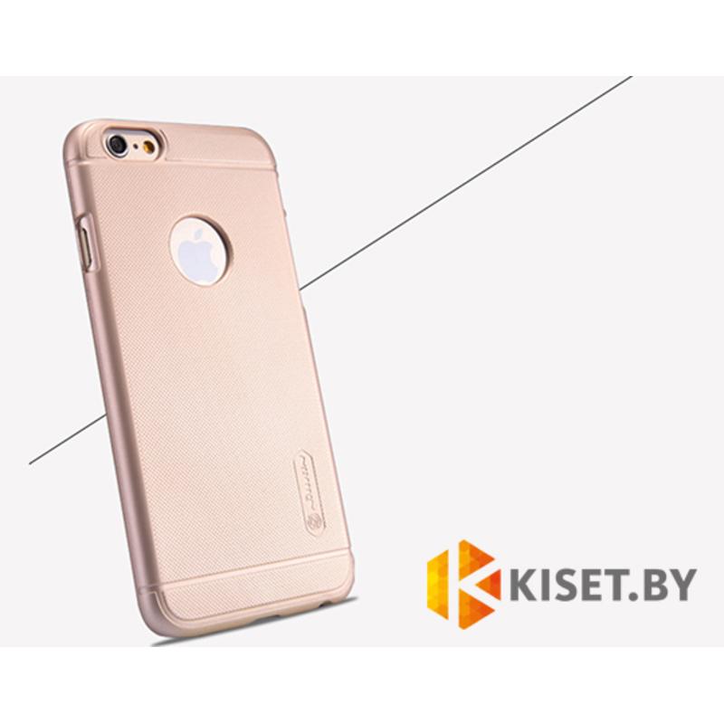 Пластиковый бампер Nillkin и защитная пленка для Apple iPhone 6, золотой