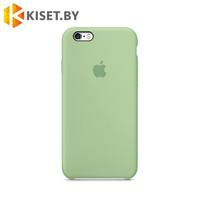 Бампер Silicone Case для iPhone 6 / 6s мятный #17