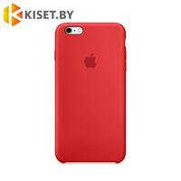 Бампер Silicone Case для iPhone 6 / 6s, красный