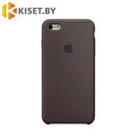 Бампер Silicone Case для iPhone 6 / 6s, коричневый