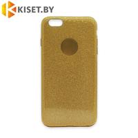 Силиконовый чехол Crystal Shine для iPhone 6 Plus / 6s Plus, золотой