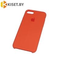 Бампер Silicone Case для iPhone 7 / 8 / SE (2020) сочный персик #27