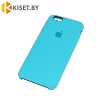 Бампер Silicone Case для iPhone 6 / 6s голубой #16