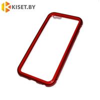 Магнитный чехол-бампер 360° для Apple iPhone 6 / 6s красный