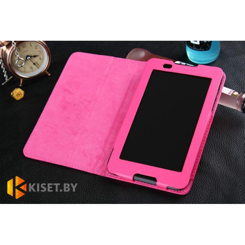 Классический чехол-книжка для Lenovo TAB 2 A7-10, розовый