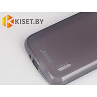 Силиконовый чехол Jekod с защитной пленкой для Alcatel One Touch 3035А, черный