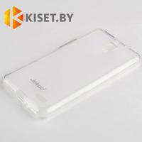 Силиконовый чехол Jekod с защитной пленкой для Alcatel One Touch X Pop 5035D, белый