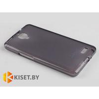 Силиконовый чехол Jekod с защитной пленкой для Alcatel One Touch Idol Ultra 6033, черный