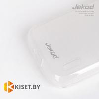 Силиконовый чехол Jekod с защитной пленкой для Alcatel One Touch Pop C3 4033D, белый