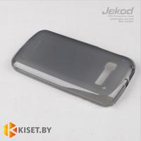 Силиконовый чехол Jekod с защитной пленкой для Alcatel One Touch Pop C5 5036D, черный
