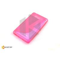 Силиконовый чехол для Alcatel One Touch Pop D5 5038D, коралловый с волной