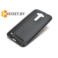 Силиконовый чехол Cherry с защитной пленкой для Asus ZenFone Laser 2 (ZE500KL), черный