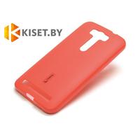 Силиконовый чехол Cherry с защитной пленкой для Asus ZenFone Laser 2 (ZE550KL), красный