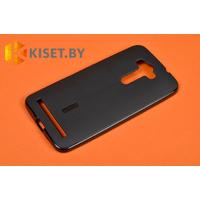 Силиконовый чехол Cherry с защитной пленкой для Asus ZenFone Laser 2 (ZE550KL), черный