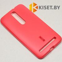 Силиконовый чехол Cherry с защитной пленкой для Asus ZenFone 2 (ZE500CL), красный