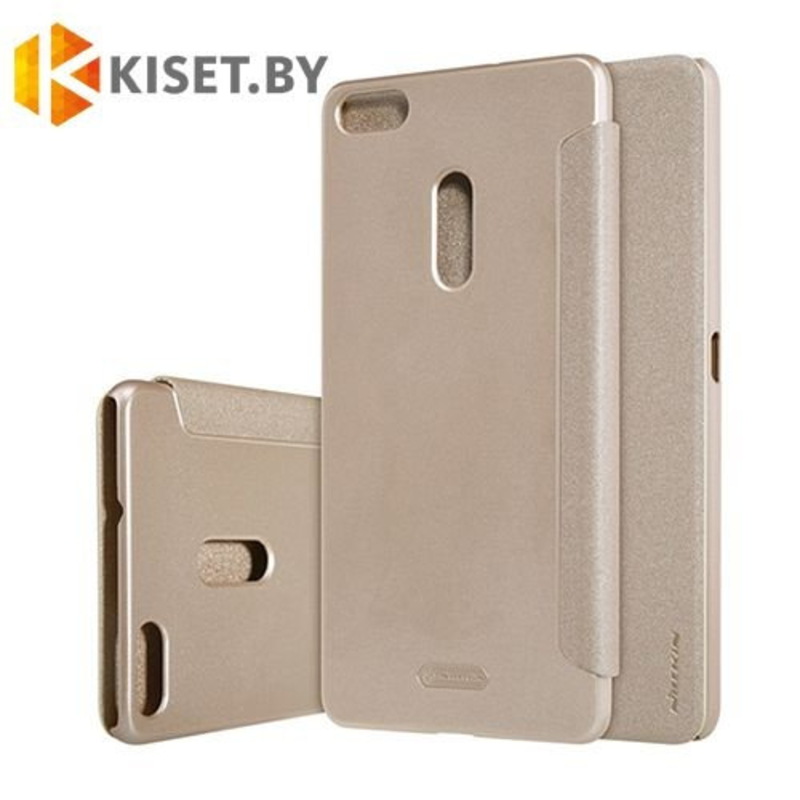 Чехол Nillkin Sparkle для Asus Zenfone 3 Ultra (ZU680KL), золотой