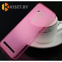 Силиконовый чехол Ultra Thin TPU для Asus ZenFone 5, розовый