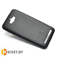 Силиконовый чехол Cherry с защитной пленкой для Asus ZenFone Max (ZC550KL), черный