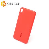 Силиконовый чехол Cherry с защитной пленкой для Asus Zenfone Live (ZB501KL), красный