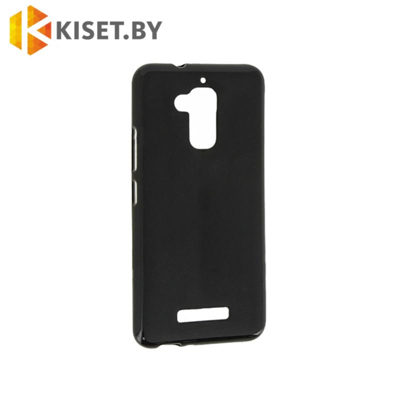 Силиконовый чехол матовый для Asus Zenfone 3 Max (ZC520TL), черный