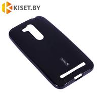 Силиконовый чехол Cherry с защитной пленкой для Asus ZenFone Go TV 5.5 (ZB551KL), черный