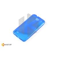 Силиконовый чехол для HTC Desire 300, синий