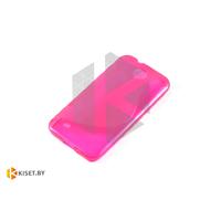 Силиконовый чехол для HTC Desire 300, розовый