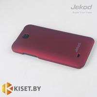 Пластиковый бампер Jekod и защитная пленка для HTC Desire 300, красный