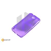 Силиконовый чехол для HTC Desire 300, фиолетовый