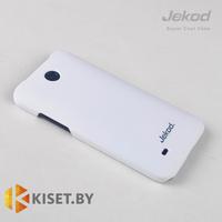 Пластиковый бампер Jekod и защитная пленка для HTC Desire 300, белый