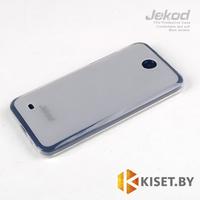Силиконовый чехол Jekod с защитной пленкой для HTC Desire 300, белый