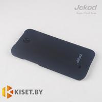Пластиковый бампер Jekod и защитная пленка для HTC Desire 300, черный