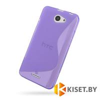 Силиконовый чехол для HTC Desire 516, фиолетовый с волной